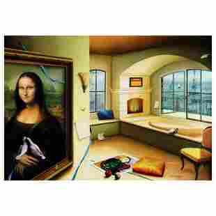 "Orlando Quevedo, ""Mona Lisa"" Limited Edition on Canvas,"