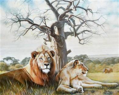 "Vera V. Goncharenko- Original Giclee on Canvas ""Pride"""