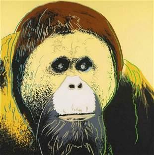 "Andy Warhol- Screenprint in colors ""Orangutan"""