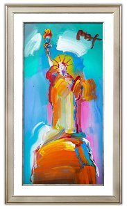 """Peter Max- Original Mixed Media """"Statue of Liberty"""""""
