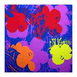 """Andy Warhol """"Flowers 11.66"""" Silk Screen Print from"""