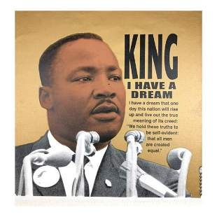 "Steve Kaufman (1960-2010) ""Martin Luther King"" Hand"