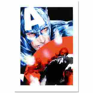 """Stan Lee Signed, """"Captain America #37"""" Numbered"""