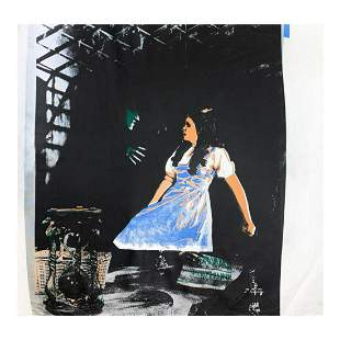 """Steve Kaufman (1960-2010) """"Dorothy and the Wicked"""