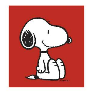 """Peanuts, """"Snoopy: Red"""" Hand Numbered Canvas (40""""x44"""")"""