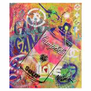 MimiK, Original Mixed Media Painting on Canvas, Hand