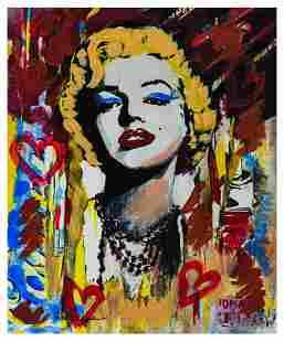 """Nastya Rovenskaya- Mixed Media """"Marilyn Monroe II"""""""