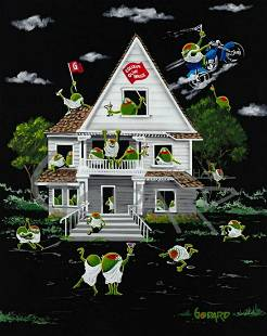 "Michael Godard Giclee on Canvas ""OLIVE HOUSE"""