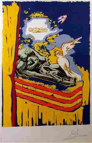 Salvador Dali Original lithograph in colors on paper
