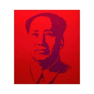 "Andy Warhol ""Mao Red"" Silk Screen Print from Sunday B"