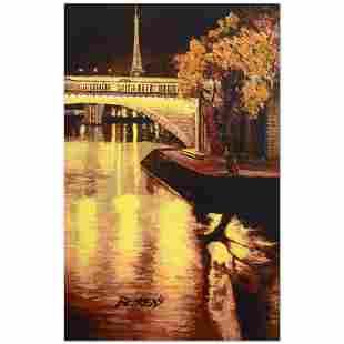 """Howard Behrens (1933-2014), """"Twilight on the Seine, I"""""""