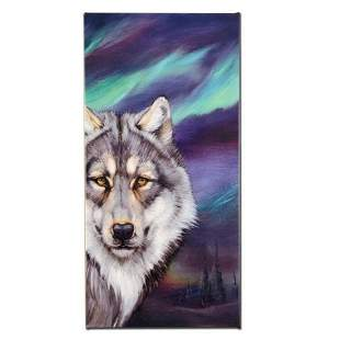 """""""Wolf Lights"""" Limited Edition Giclee on Canvas by"""