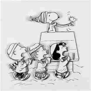 """Peanuts, """"Caroling Crew"""" Hand Numbered Limited Edition"""