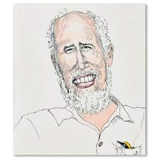 "Charles Lynn Bragg, ""Birdman"" Original Ink and Colored"