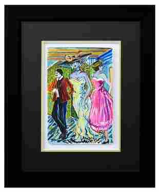 "Patricia Govezensky- Original Watercolor ""Friends"