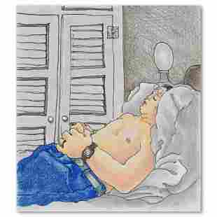 "Charles Lynn Bragg, ""Sleeping Bruce"" Original Ink and"
