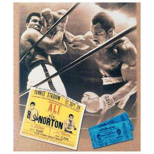 """Must-Have Signed Sports Photo Collage. """"Ken Norton and"""