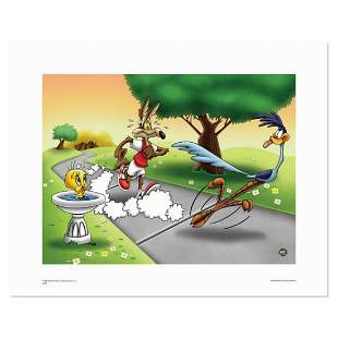 """""""Wile E and Road Runner Race"""" Numbered Limited Edition"""