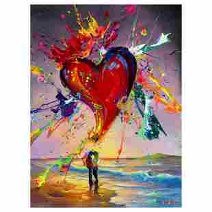 """Jim Warren, """"Love is in the Air"""" Hand Signed, Artist"""