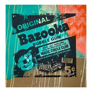 "Gail Rodgers, ""Bazooka Joe"" Hand Signed Original Hand"