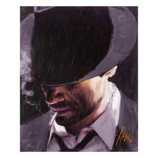 "Fabian Perez, ""Black Hat"" Hand Textured Limited Edition"