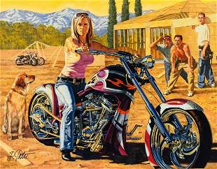 "Robert Tate- Original Giclee on Canvas ""Taking A"