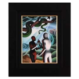 """Mark Kostabi, """"The Moment of Truth"""" Framed Original"""