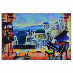 "Ferjo, ""Santorini at Dusk"" Limited Edition on Gallery"