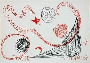"""Alexander Calder Original Lithograph """"Firenze , 1967"""""""