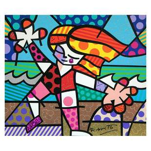 """Romero Britto, """"Golden Beaches"""" Hand Signed Limited"""