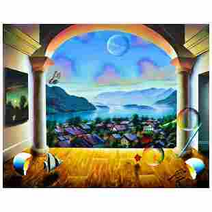 "Ferjo, ""Austrian Dream"" Original Painting on Canvas,"