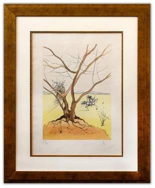 """Salvador Dali- Original Lithograph """"Asher (From Twelve"""