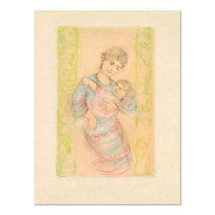 """Edna Hibel (1917-2014), """"Fair Alice and Baby"""" Limited"""
