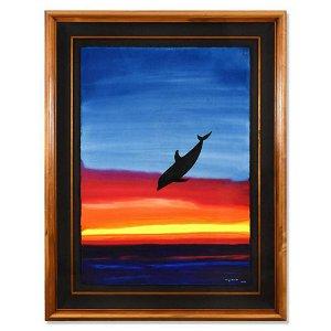 "Wyland, ""Sea Of Life"" Framed Original Watercolor"