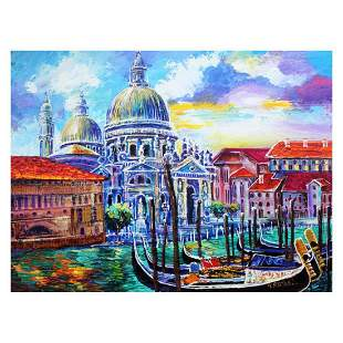 "Yana Rafael, ""Venezia Historic Site"" Hand Signed"