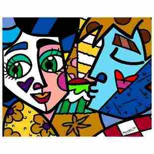"""Romero Britto """"Please Sweetheart"""" Hand Signed Limited"""