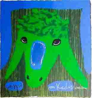 "Menashe Kadishman- Original Serigraph ""Untitled"""