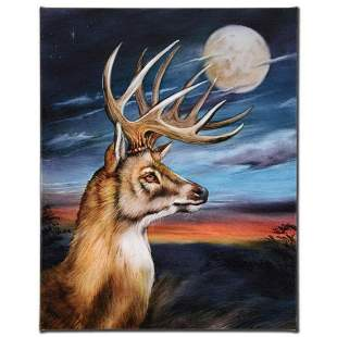 """""""White Tail Moon"""" Limited Edition Giclee on Canvas by"""