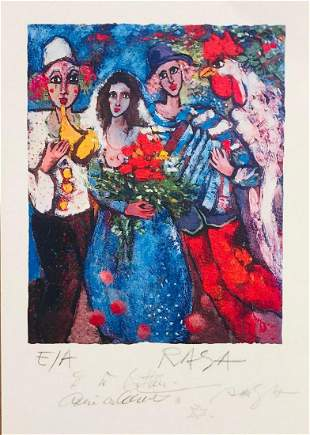 Raya sorkine Hand signed and Numbered Lithograph