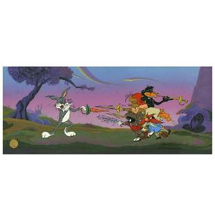 """Chuck Jones """"Foiled Again"""" Hand Signed, Hand Painted"""