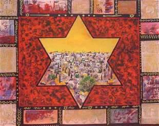 "Victor- Original Serigraph ""Star of Jerusalem """