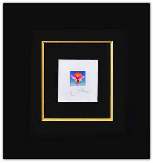 """Peter Max- Original Lithograph """"Angel with Sun Ver. II"""