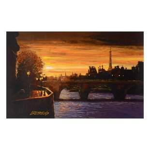 """Howard Behrens (1933-2014), """"Twilight on the Seine II"""""""