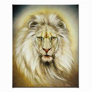 """""""White Lion"""" Limited Edition Giclee on Canvas by Martin"""