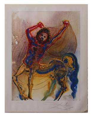 """Salvador Dali- Original Lithograph """"The Centaur of"""