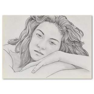 "Charles Lynn Bragg, ""Leigh"" Original Pencil Drawing,"