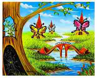 "Eugene Poliarush- Original Oil on Canvas ""A River Trip"