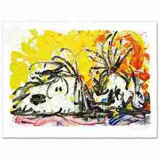 """Tom Everhart- Hand Pulled Original Lithograph """"Blow"""