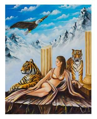 "Eugene Poliarush- Original Oil on Canvas ""Queen Erica"""