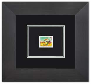 "Peter Max- Original Lithograph ""Sage Sailboat and vase"